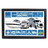 MOTORHOME CARAVAN BOAT KITCHEN 14 Inch LED Digital HD TV DVB-T2. Freeview HD and all Europe Free to The Air TV. 12V 240V USB PVR & Media Player, HDMI CCTV Monitor by Unispectra® (For UK)