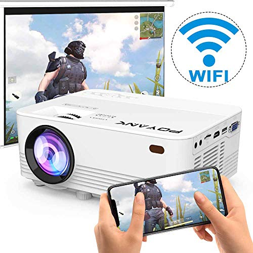 WiFi Projector, POYAN K 6500Lumens WiFi Projector, Full HD 1080P Supported Mini Projector, Compatible with TV Stick/Phones/Tablet/PS4/TV Box/HDMI/USB/AV Projector for Outdoor Movies [2021 Upgrade]