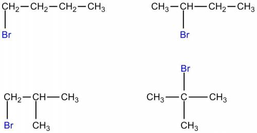 Draw all the structural isomers for the molecular formula c4h9br. be careful not to draw any structu