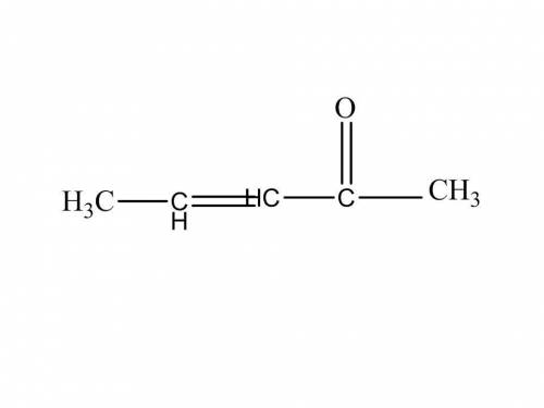 How many double bonds in the molecule ch3chchc(0)ch3 ?