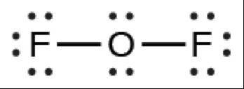 How many double bonds are in lewis structure of oxygen difluoride, OF2? 1,0, 2, or 3