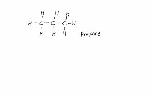 In an electron dot diagram of propane (c3h8), how many double bonds are present? onetwothreenone
