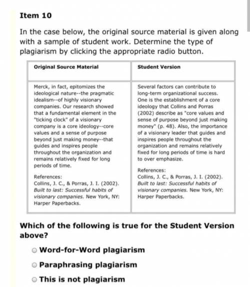 In the case below, the original source material is given along with a sample of student work. Determ